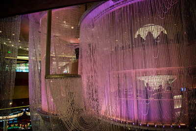 The Chandelier bar at the Cosmopolitan in Las Vegas, 2 million crystals were used to create this 3 story bar.