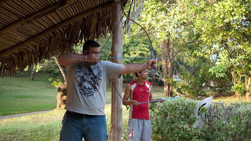 Miguel, probably shooting cuatimundis