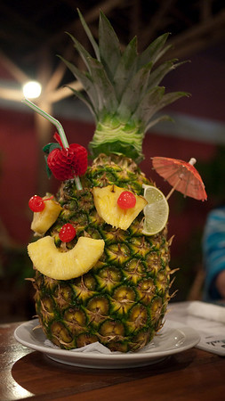 a real Pina Colada comes in a pineapple!