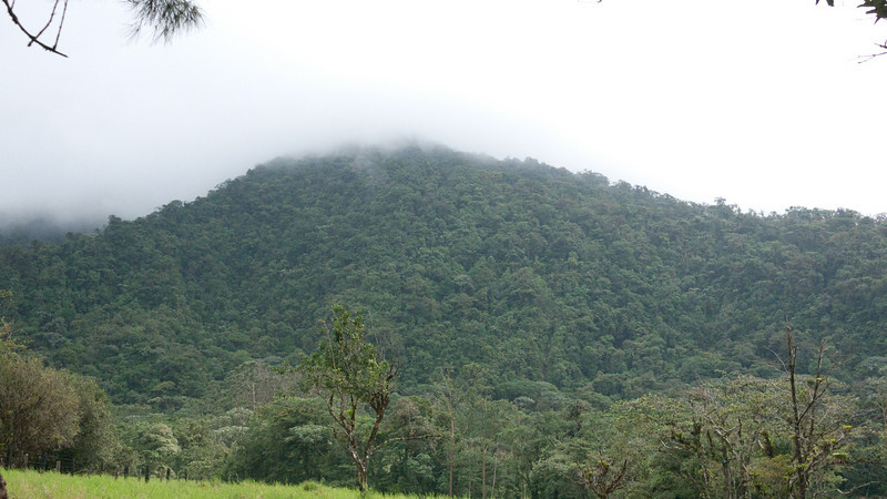this is Cerro Chato, the inactive volcano we were about to hike. it's right next to the active Arenal