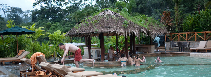 the water bar. you could get drinks and even food, without getting out of the water