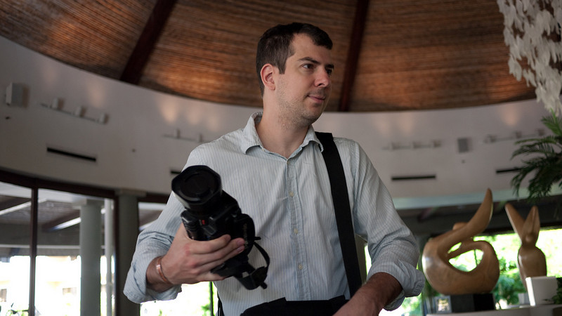 Slava and his indispensable video camera