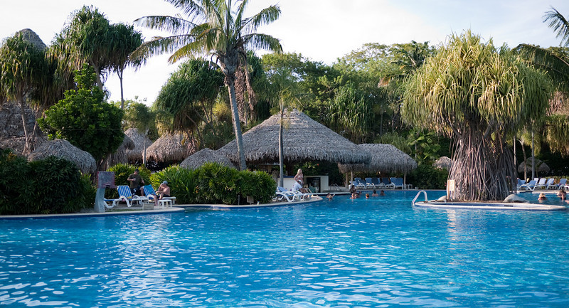 the regular pool of the resort. it was huge