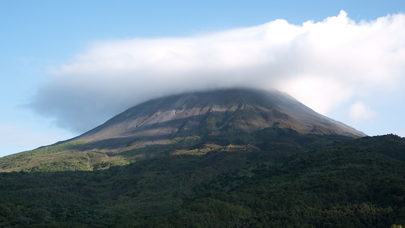 Arenal volcano. it was very quiet while we were there, no rumblings or eruptions