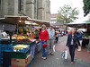 Mary at the Saturday market in Hamm