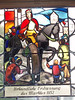 Stained glass in the town hall of Ravensburg.