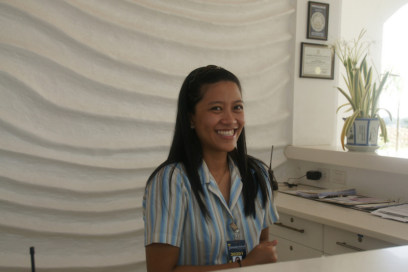 Front desk is all smiles