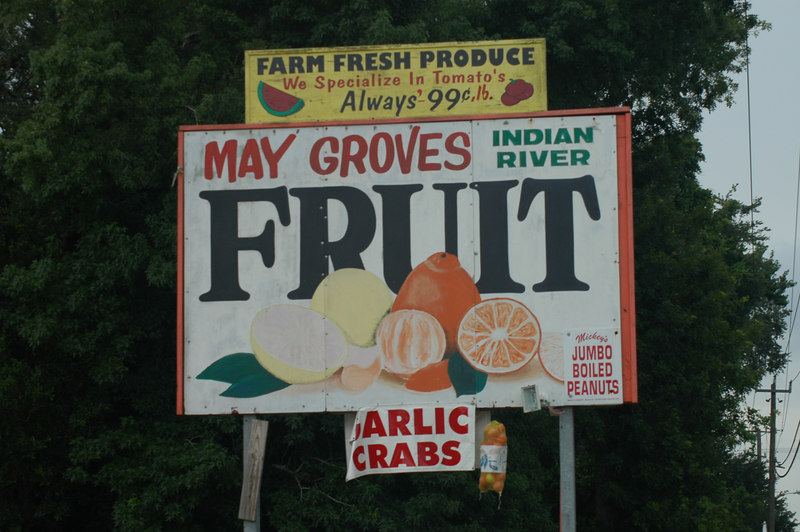 This place only had two types of fruit:  oranges and grapefruit.