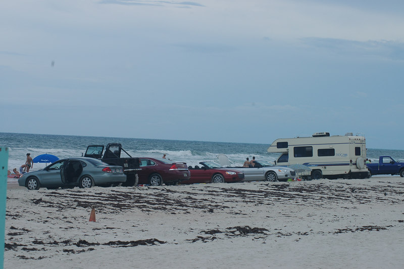 In Daytona, everyone parks right on the beach.
