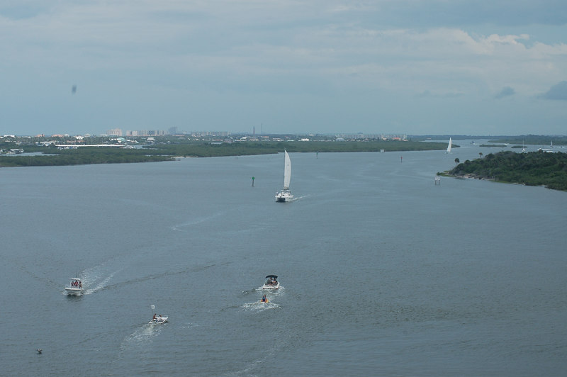 Taken from atop a bridge before reaching Cocoa Beach.