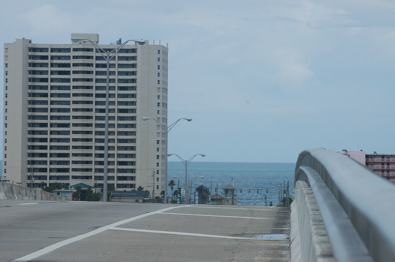 View towards the narrow strip which is Cocoa Beach.
