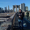 Peter on Brooklyn Bridge