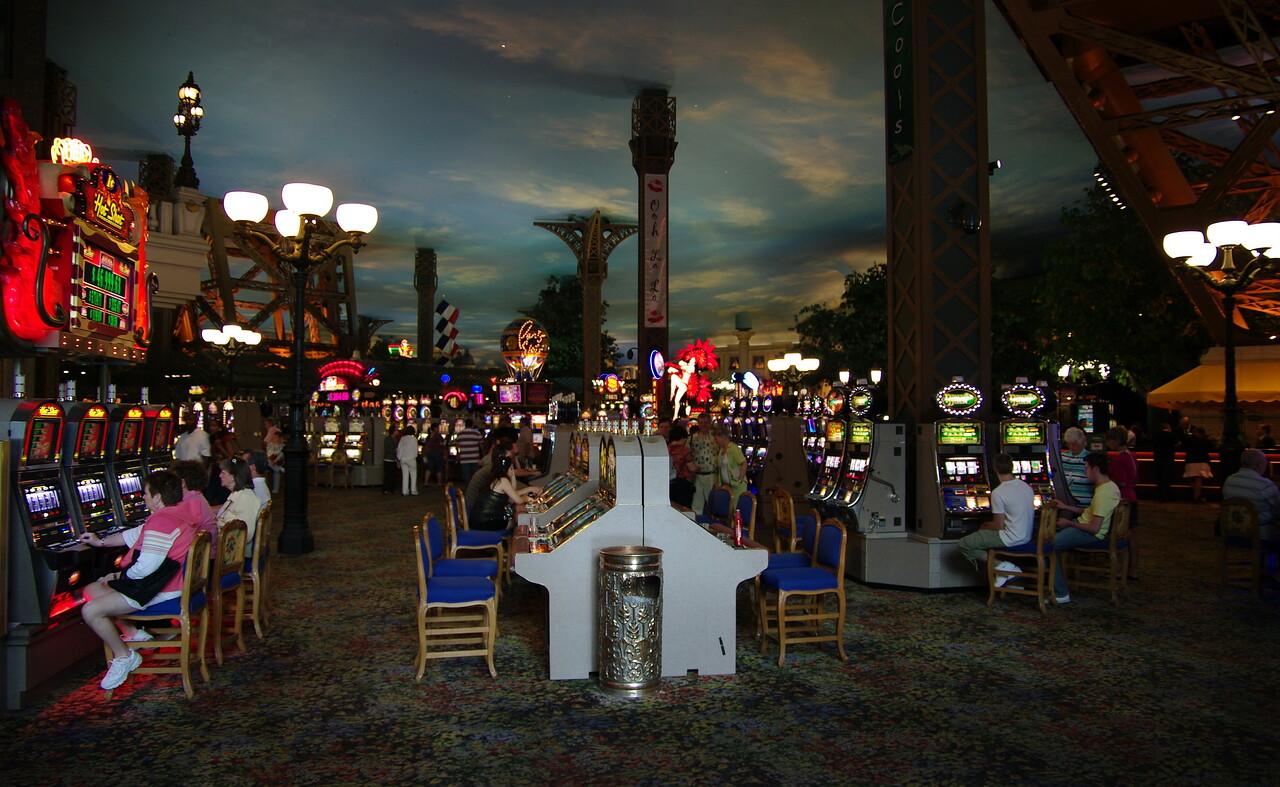 Inside the Eiffel Tower Casino.