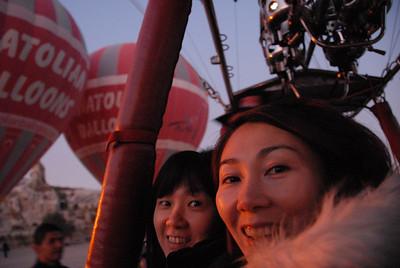 October 5, 2011 - Turkey Day 5 - Cappadocia, Anatolian Hot Air Balloons, Fairy Chimneys view from above ...