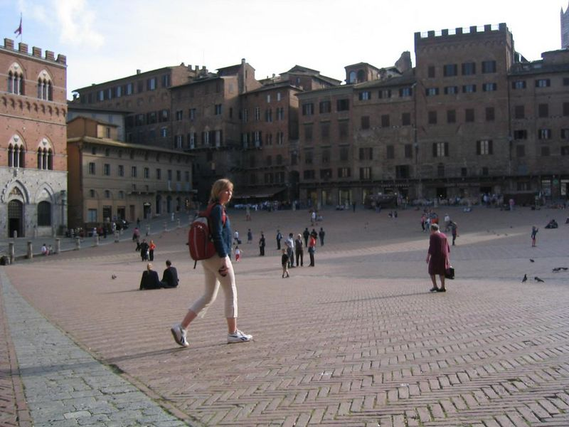 the town square in Sienna