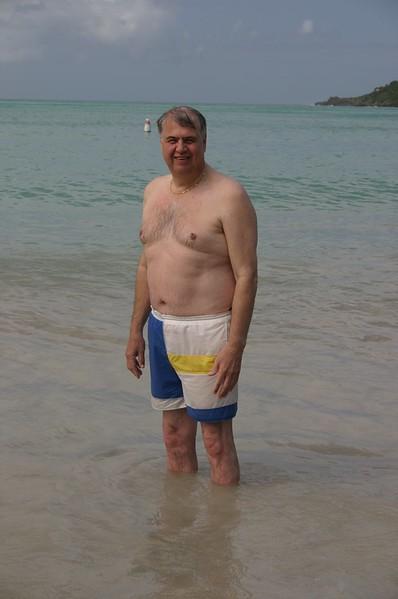 Megan's Beach.  Dan posing.