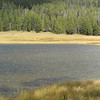 Hail on Grebe Lake during our hike in Yellowstone Park