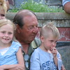 Frank Scholtz with his wife and grandchildren