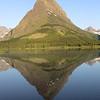 Mountain reflected in Lake McDonald, Glacier National Park.