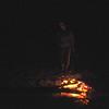 Kim roasting in the dark.