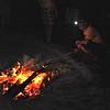 Collin roasting in the dark.