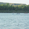 A boy scout troup passes us in kayaks on their way to Bismarck.