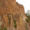 Cliffs above Anasazi Village Ruins, Bandelier National Monument, New Mexico