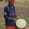 Native musician performing at Bandelier National Monument, New Mexico
