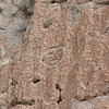 Petroglyph above cliff dwellings at Bandelier National Monument, New Mexico