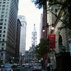 Looking down Broad Street at Philadelphia City Hall.