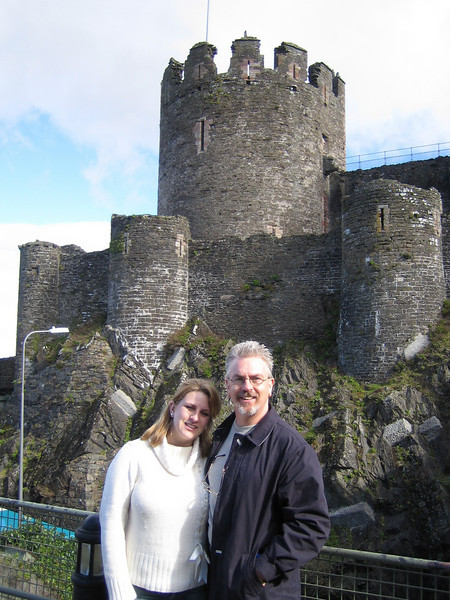 "Natalie & Rick at Conwy Castle (North Wales).<br /> <a href=""http://en.wikipedia.org/wiki/Conwy_Castle"">http://en.wikipedia.org/wiki/Conwy_Castle</a>"