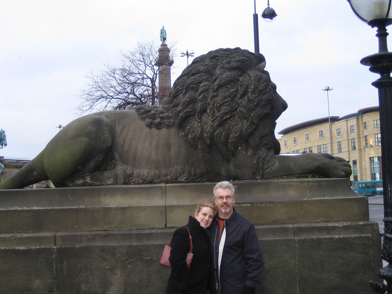 "Natalie & Rick next to Lion at front of St. George's Hall (Liverpool).<br /> <a href=""http://en.wikipedia.org/wiki/St_George"">http://en.wikipedia.org/wiki/St_George</a>'s_Hall,_Liverpool"