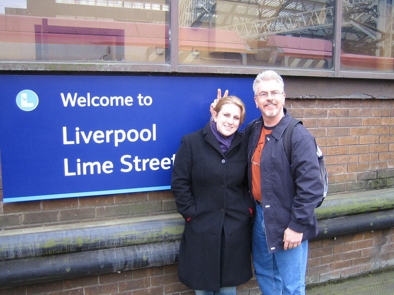 Natalie & Rick at Lime Street Station.