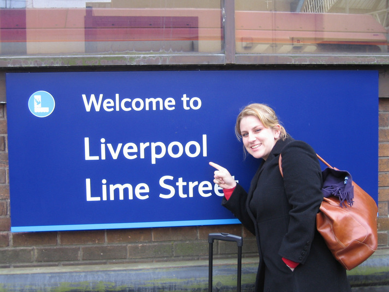 Natalie arrives in Liverpool.