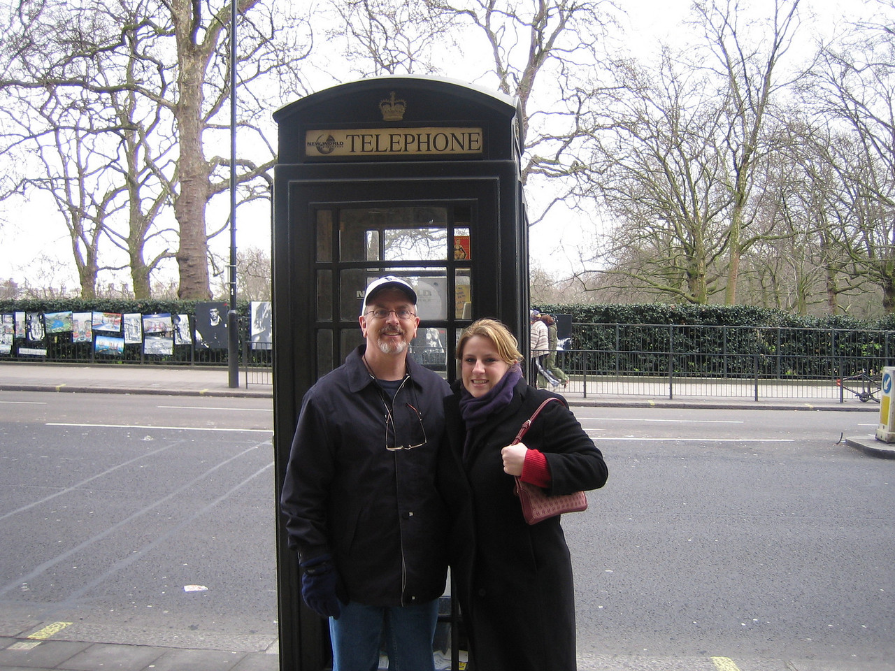 Not the usual red phone box - London City Center - UK<br /> Rick & natalie