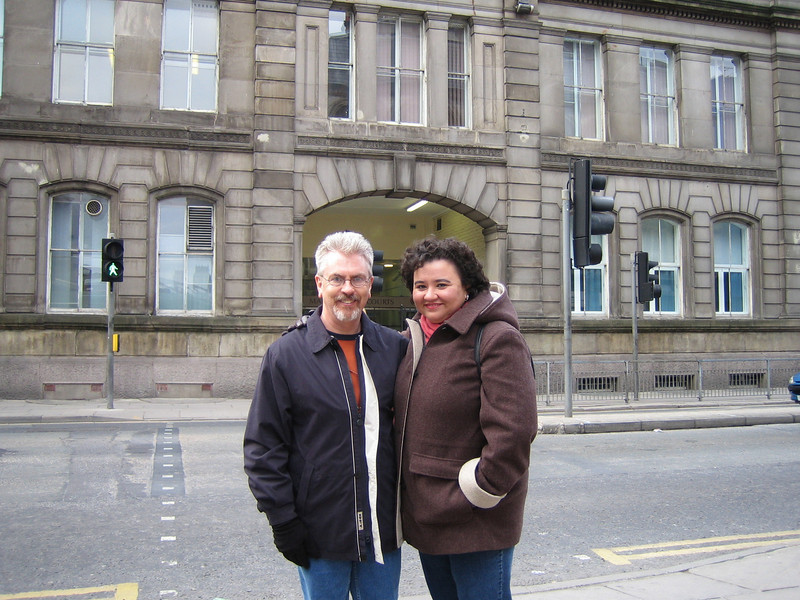 "Rick & Yolanda in front of Liverpool City Magistrates' Courts on Dale Street (Liverpool).<br /> Rick worked here for a while as a Court Clerk's Assistant.<br /> <a href=""http://en.wikipedia.org/wiki/Liverpool_Magistrates"">http://en.wikipedia.org/wiki/Liverpool_Magistrates</a>'_Court"