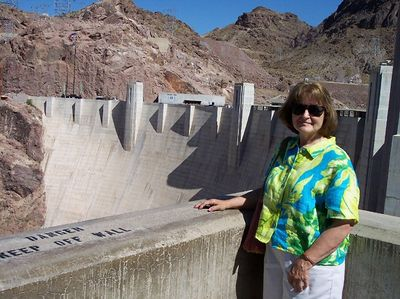 Mom at Hoover Dam.