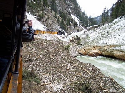 Another avalanche.  The tracks had only been open for a week.
