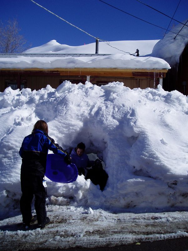 If you can't shovel a path to your door, just dig a tunnel