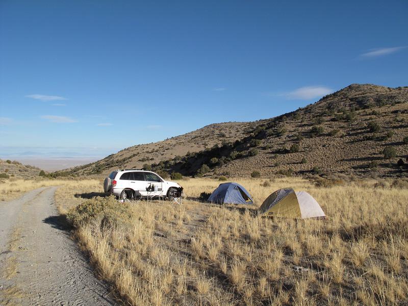 Notch Peak trailhead campsite