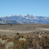 view of eastern Sierra Nevada from hwy 120