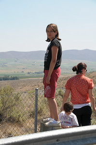 The beginning of our journey.  BB is standing on a post in a rest area checking out the valley below.
