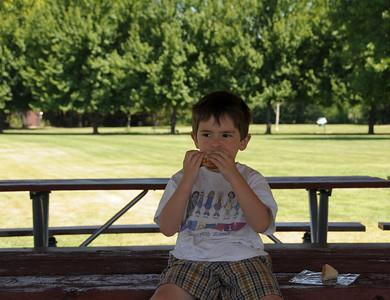 Travis loves his peanut butter.