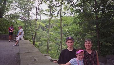 Polly, Mom, Jackson at Steph at Taughannock Falls