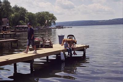 Jackson on the dock