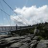Side view of the swinging bridge