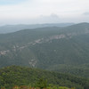 View of Linville Gorge from top of Table Rock Mtn.<br /> see that tiny white speck in the middle of the photo?