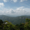 Vista of the far side of the Grand Canyon of the East.. Linville Gorge from Hawksbill Mtn.<br /> Linville Gorge Wilderness, NC