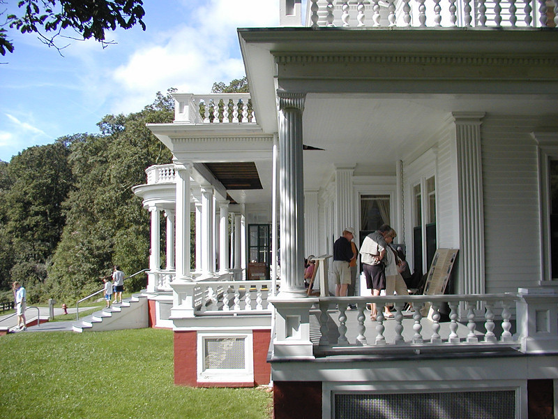 Side view of Moses Cone Manor which now houses the craft gild