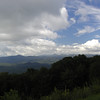 View of the Blue Ridge Mountains from the Parkway. Looking toward Table Rock and Hawksbill.